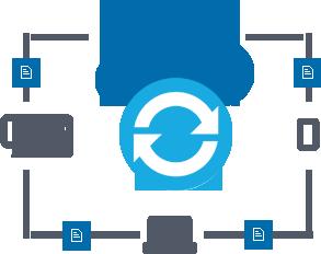 Synchroniseren met de cloud opslag